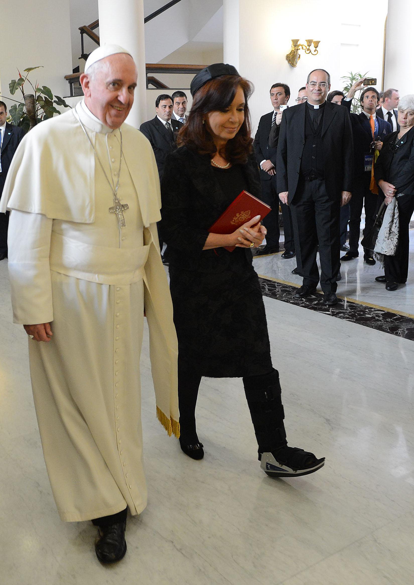 Cristina con Francisco en Roma