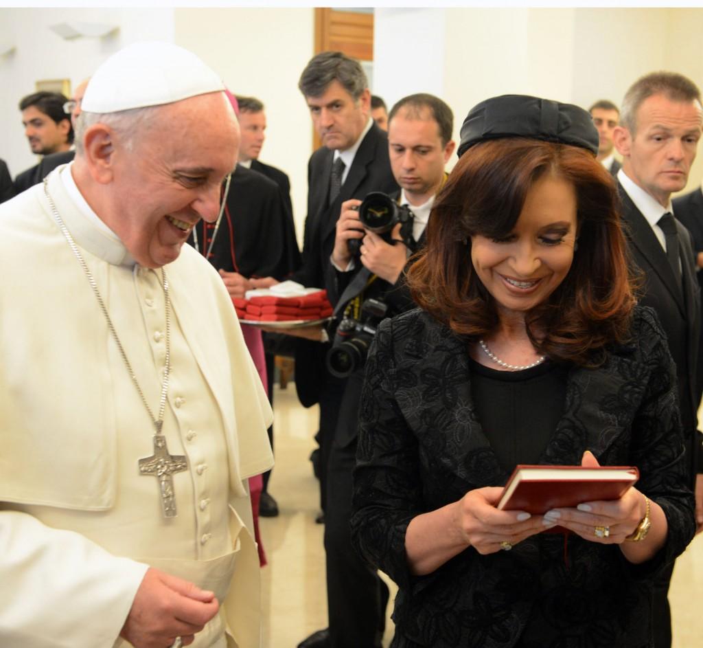 Cristina Kirchner con el Papa