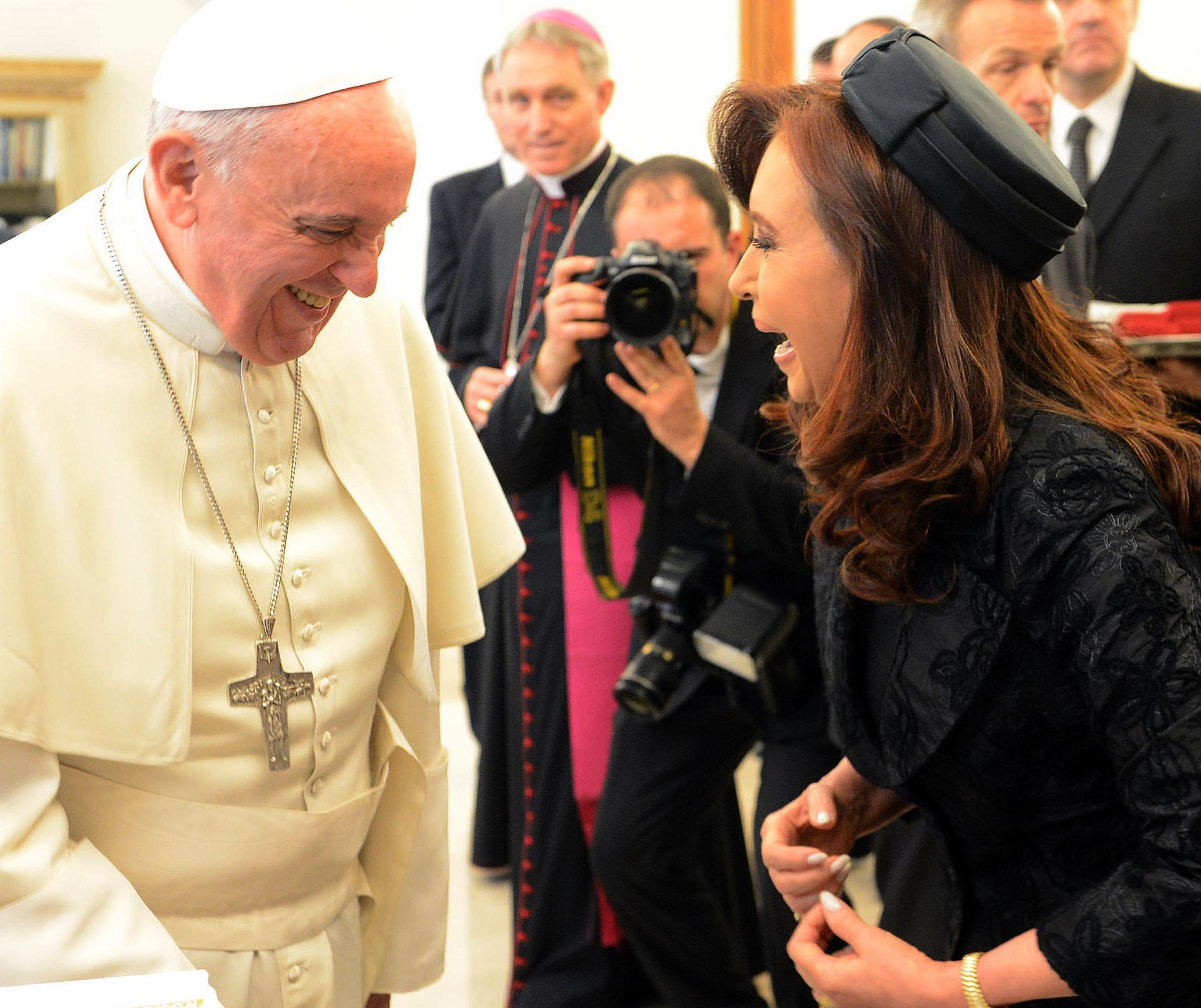 Cristina Kirchner con el Papa Francisco en el Vaticano
