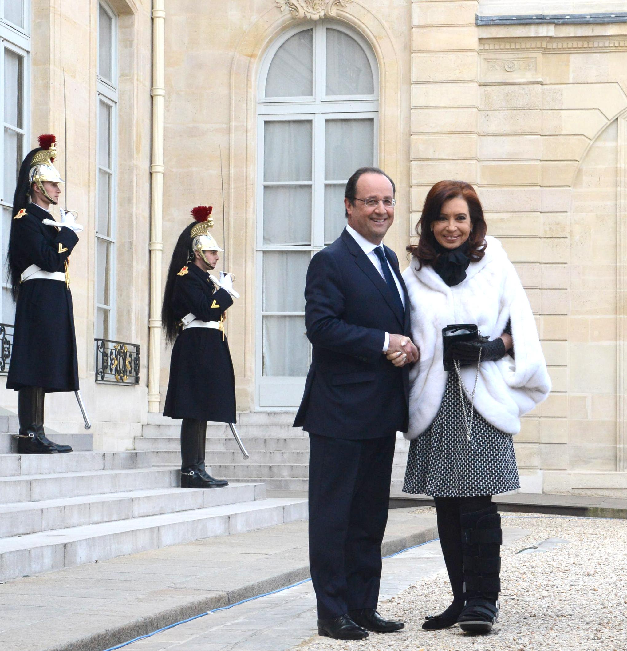 Cristina Kirchner con Hollande