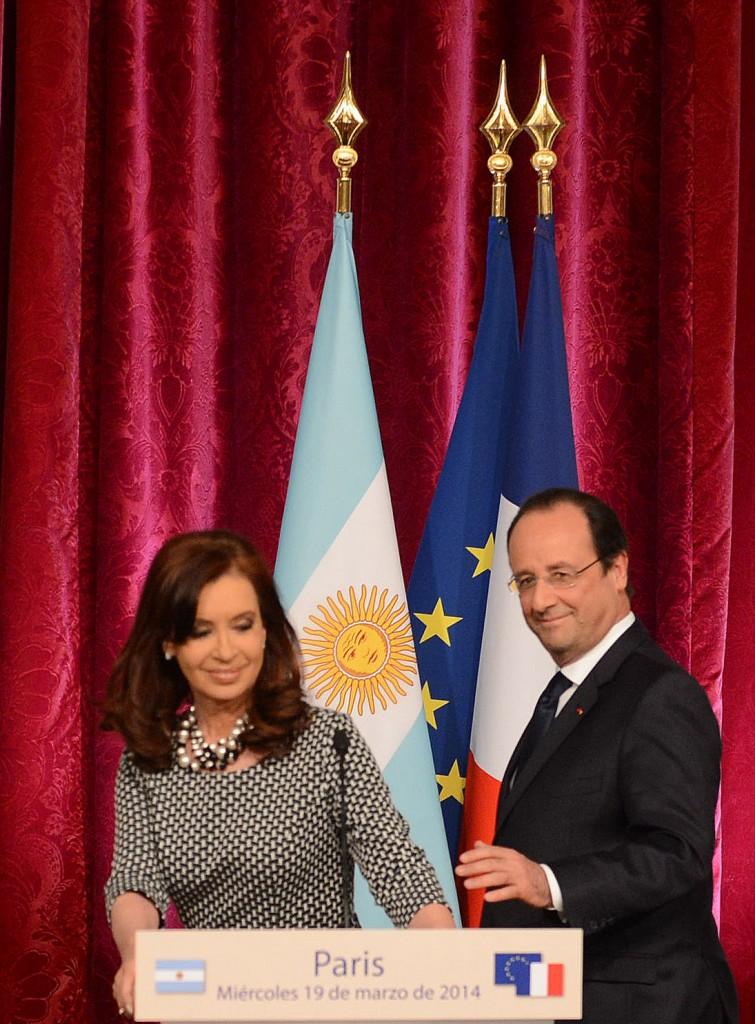Cristina Kirchner y François Hollande