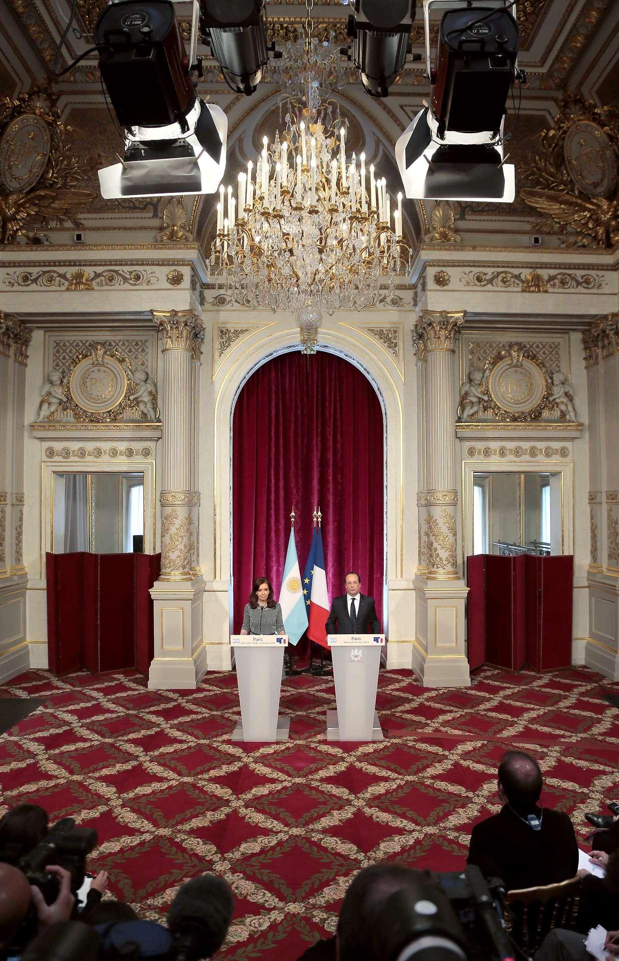 Cristina con Hollande