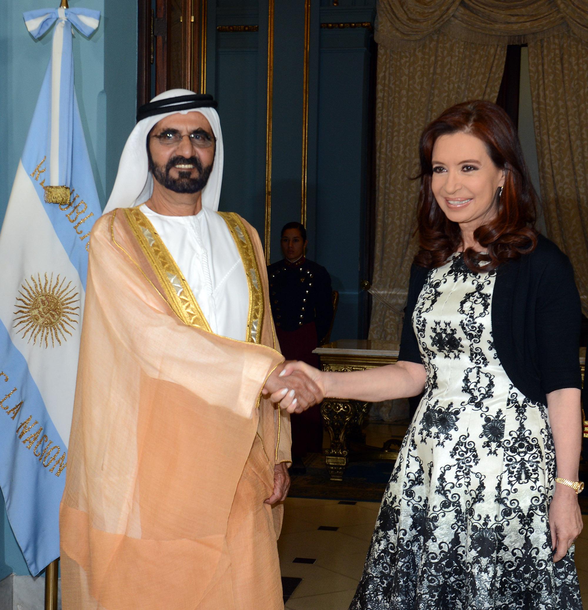 Cristina con Emiratos Arabes