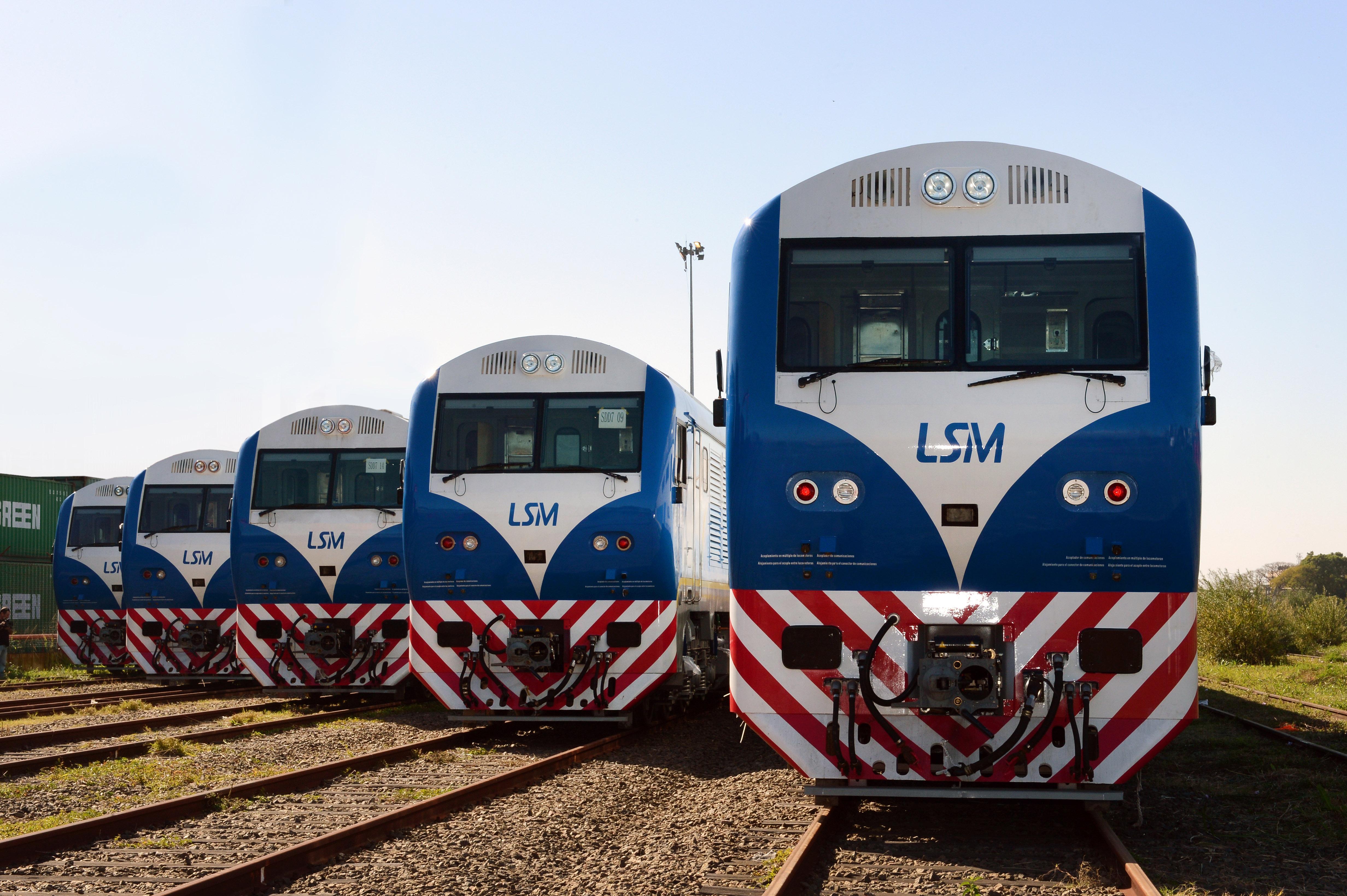 Locomotoras tren San Martin