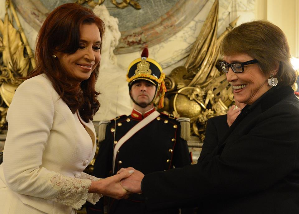 Cristina designó a Teresa Parodi al frente del flamante Ministerio de Cultura.