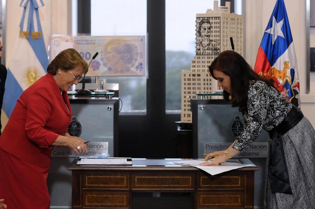 Encuentro bilateral con la Presidenta de Chile, Michelle Bachelet