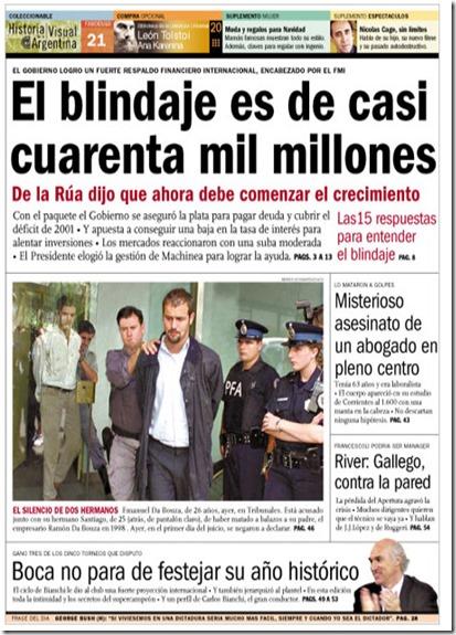 Blindaje deuda argentina