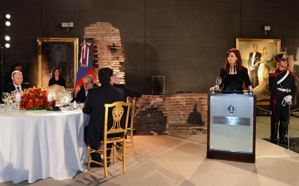 Cena en honor al Presidente de la Federación Rusa, Vladimir Putin, en visita oficial a nuestro país.