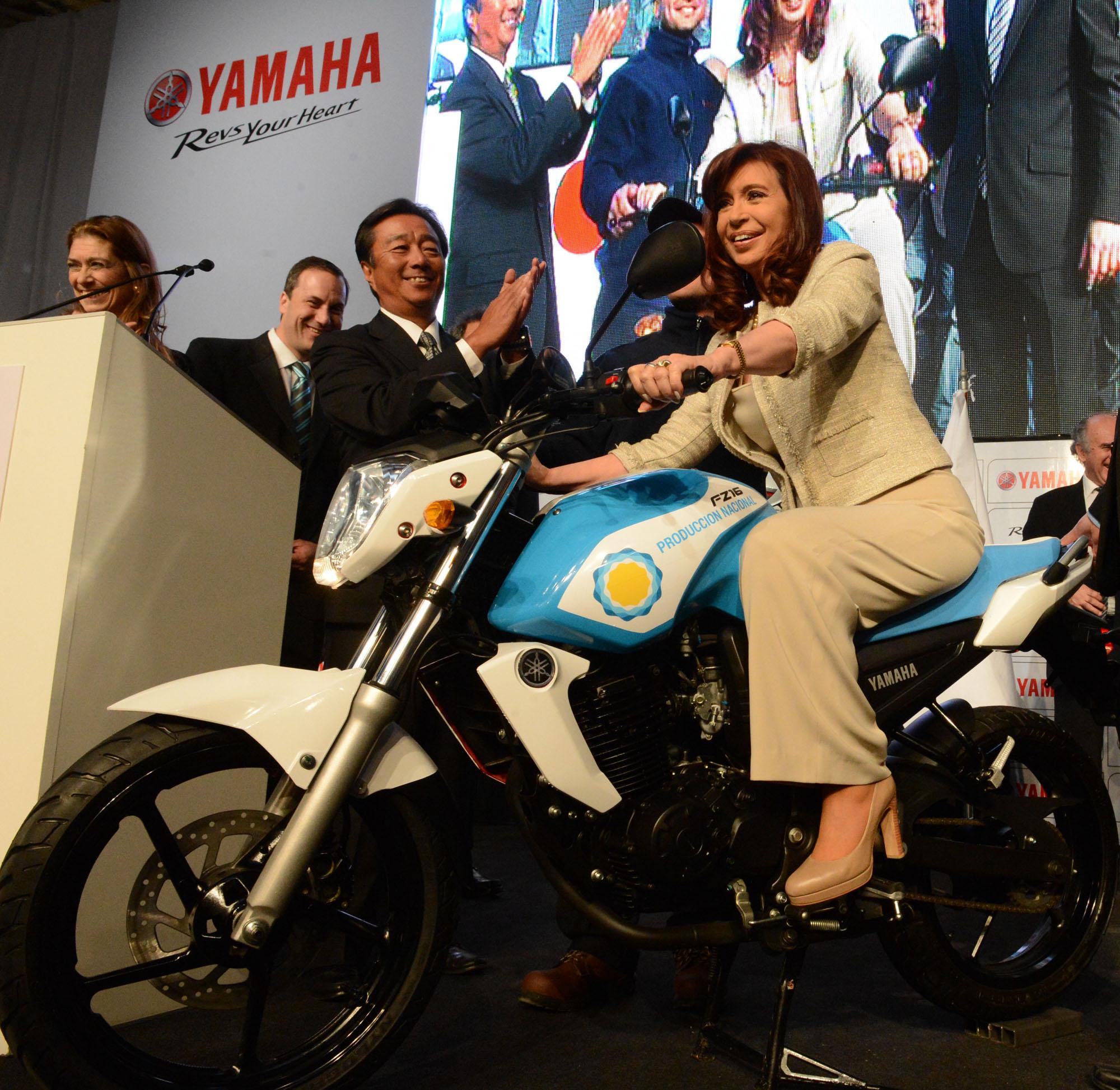 Cristina en Yamaha