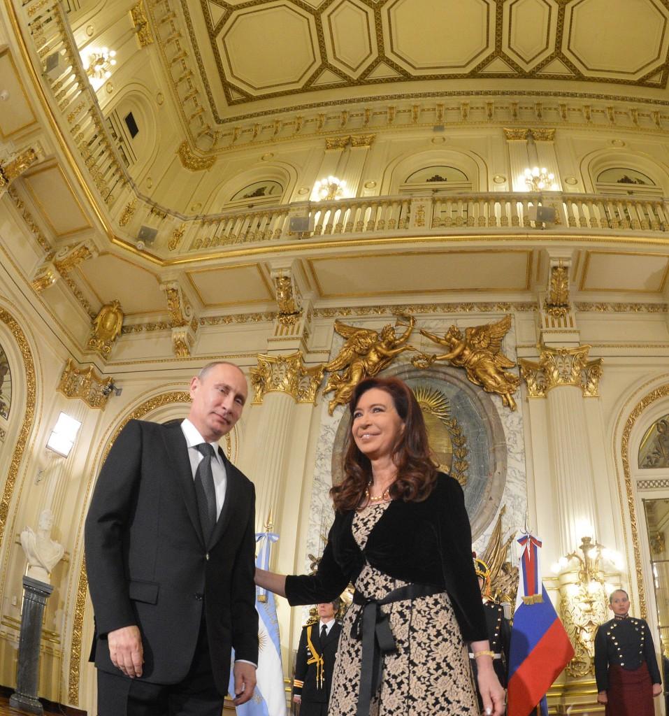 El Presidente de la Federación Rusa, Vladimir Putin, hoy en visita oficial a nuestro país. En Casa Rosada Argentina