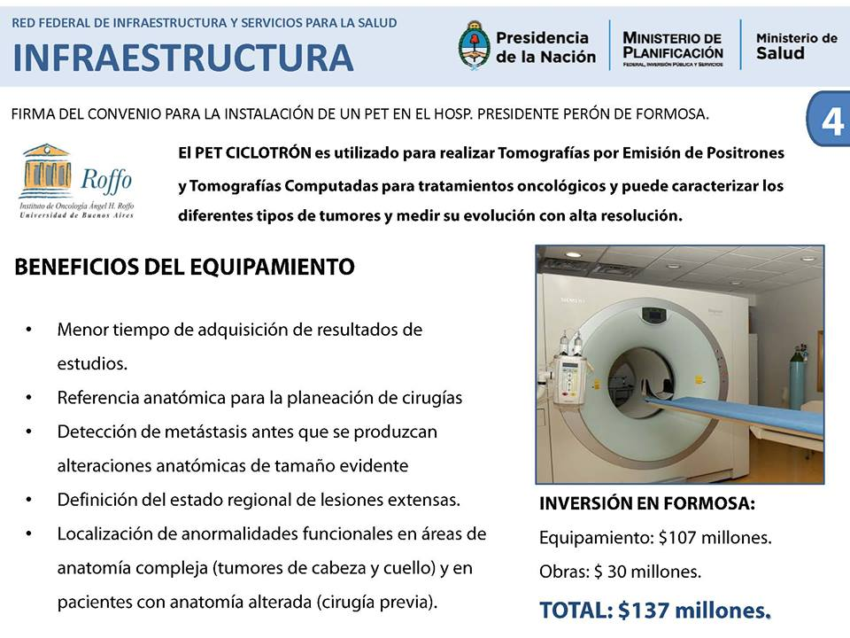 """Equipamiento de medicina nuclear del Instituto de Oncología """"Ángel Roffo"""", que depende de la Universidad de Buenos Aires: MAMMI PET, SPECT y Acelerador Lineal. Una inversión, entre equipos y mano de obra, de $ 21,75 millones."""