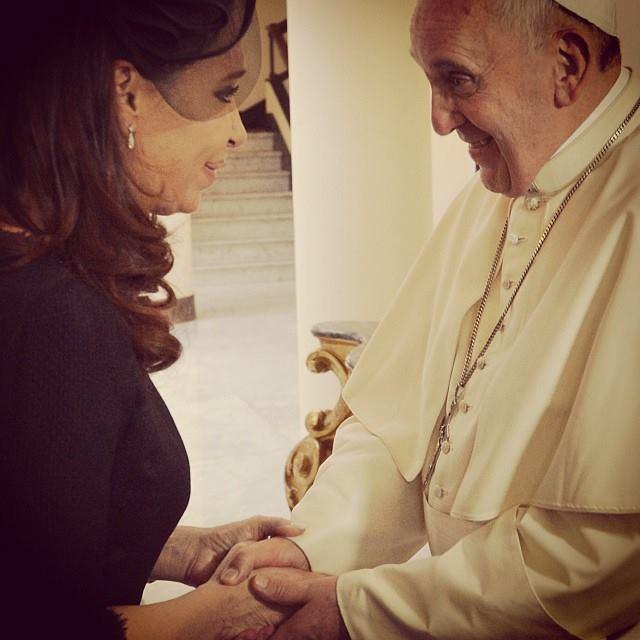 El Papa (y Eva) #santamarta #evita #papafrancisco