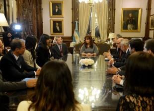 La Presidenta recibió a integrantes del GAFI