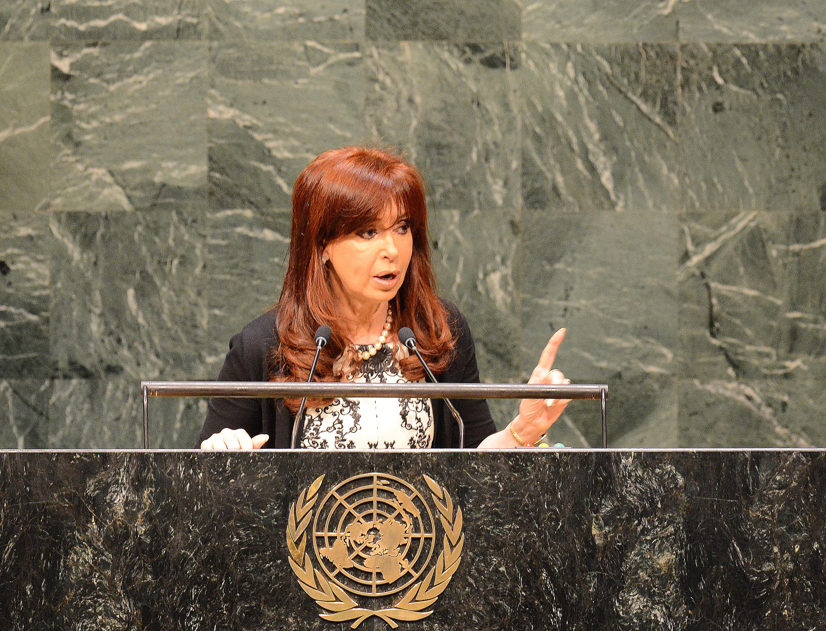 Cristina Kirchner en la ONU
