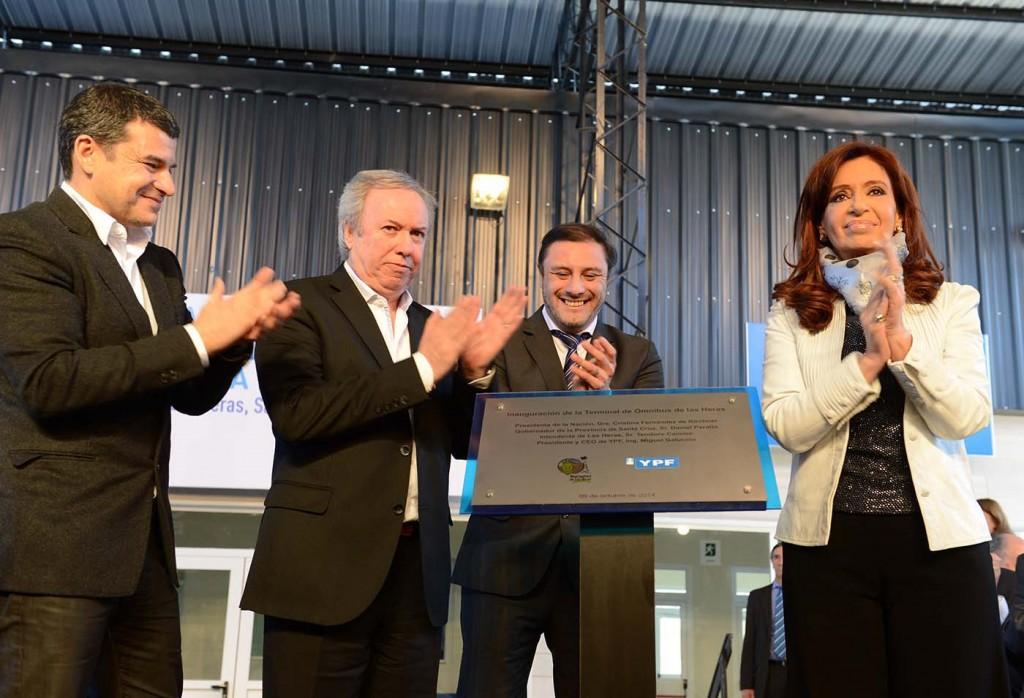 Inauguración de la Terminal de Ómnibus de Las Heras, Santa Cruz.