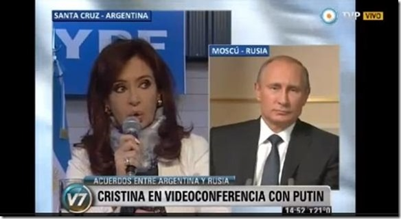 Cristina con Putin RT