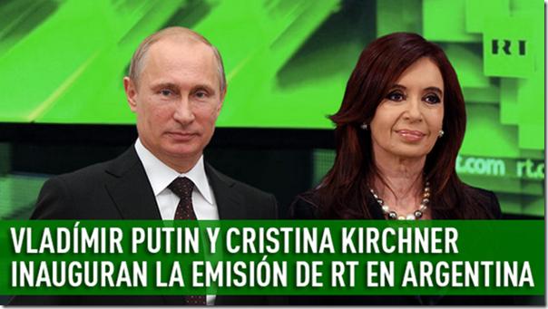 Cristina Kirchner con Vladimir Putin