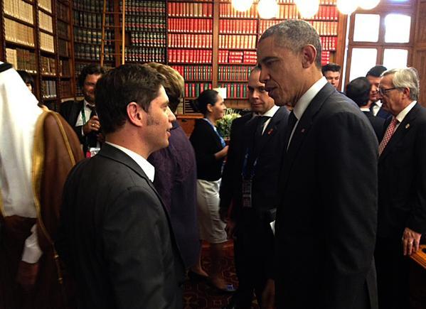 Kichillof con Obama en el G20