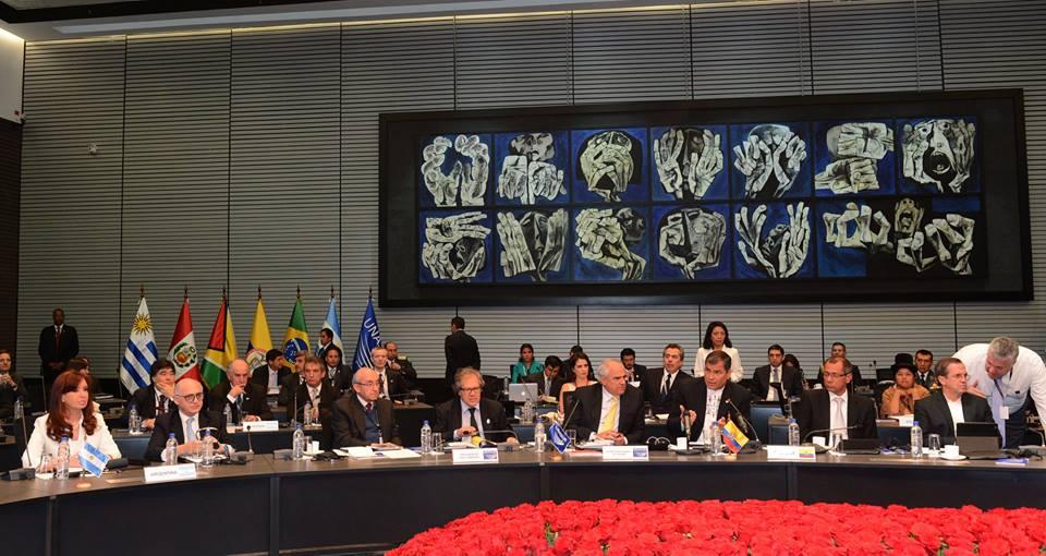 Declaración de la Reunión Extraordinaria del Consejo de Jefas y Jefes de Estado y de Gobierno de Unasur.