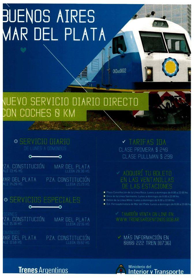Nuevo tren 0km a Mar del Plata.
