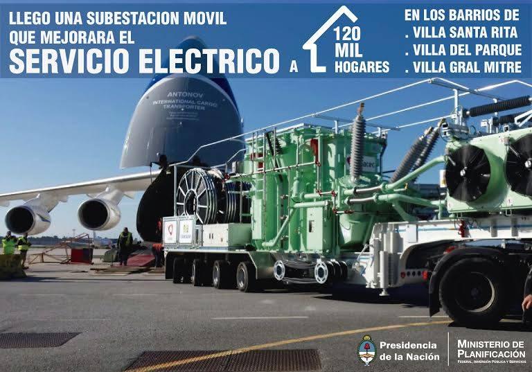 Llega la nueva subestación móvil que se instalará en Villa Santa Rita y beneficiará a 120 mil hogares.