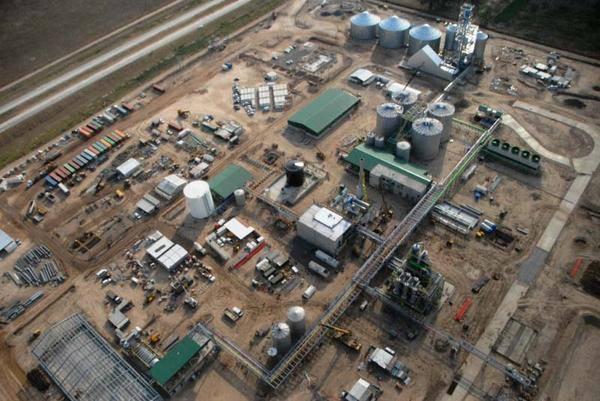 Planta de bioetanol de la cooperativa ACA BIO; inversión de USD 130 millones.
