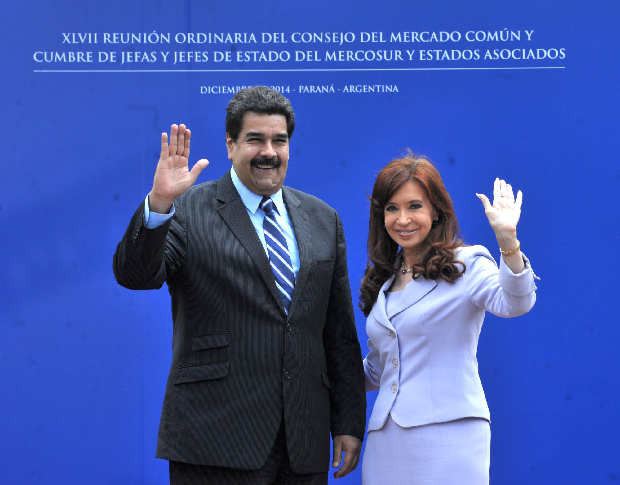 Cristina y Maduro en Mercosur, Entre Ríos