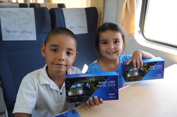 El tren llegó a Mar del Plata.