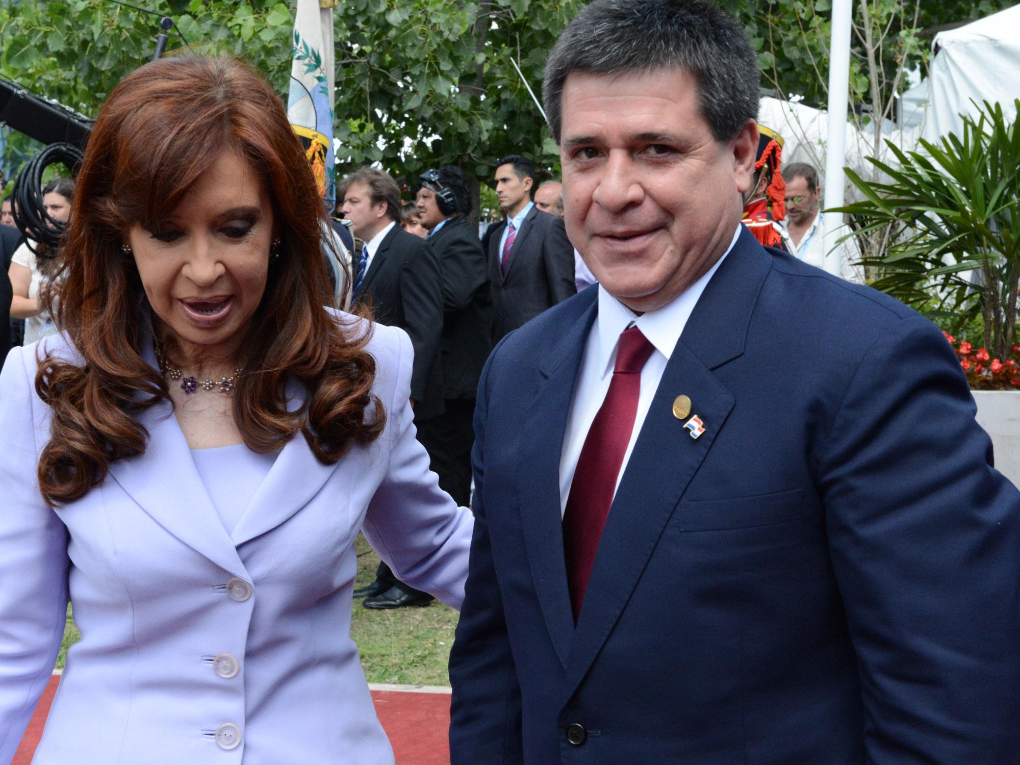 Cistina y Cartes en Mercosur, Parana