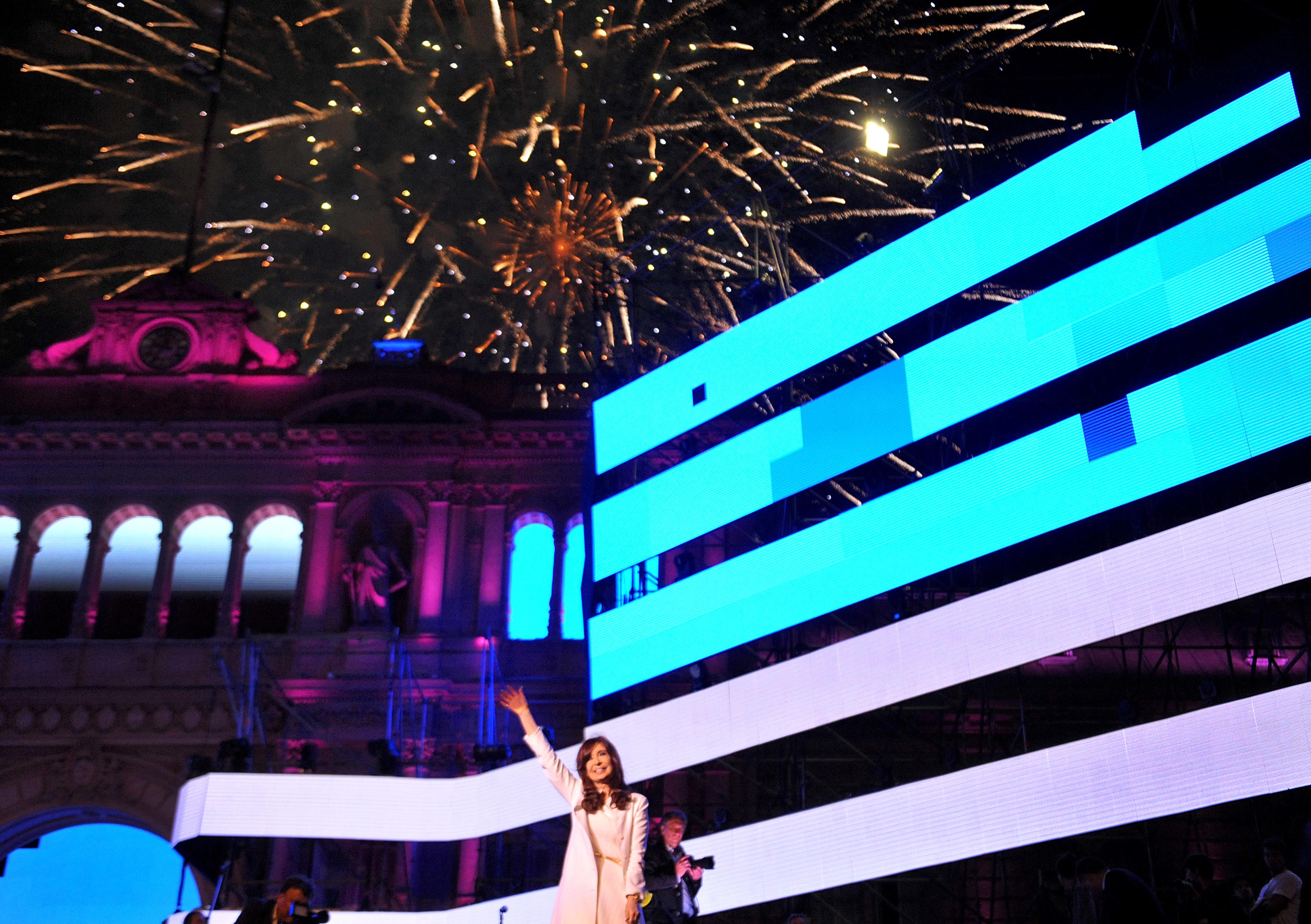 Cristina en el festejo de 31 años de democracia.