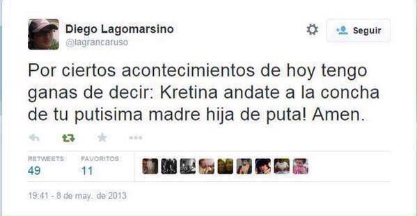 Twitter de Lagomarsino.