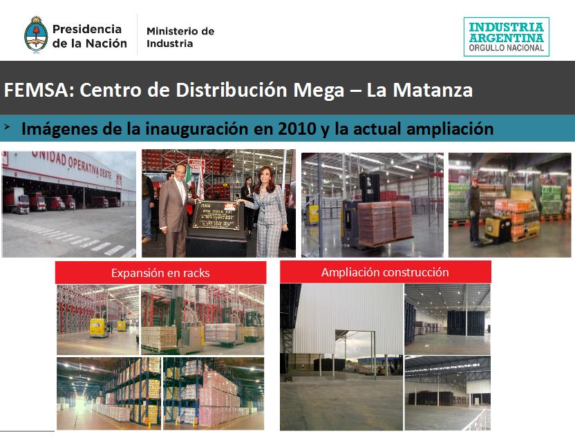 En La Matanza ampliación del centro de distribución más grande y moderno del continente de Coca Cola-FEMSA.
