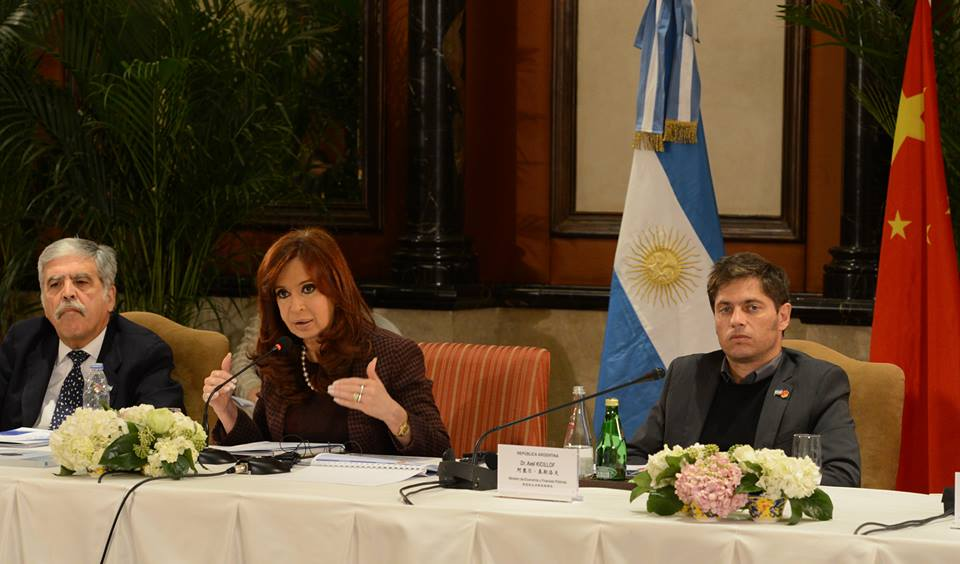 Cristina Kirchner en China.