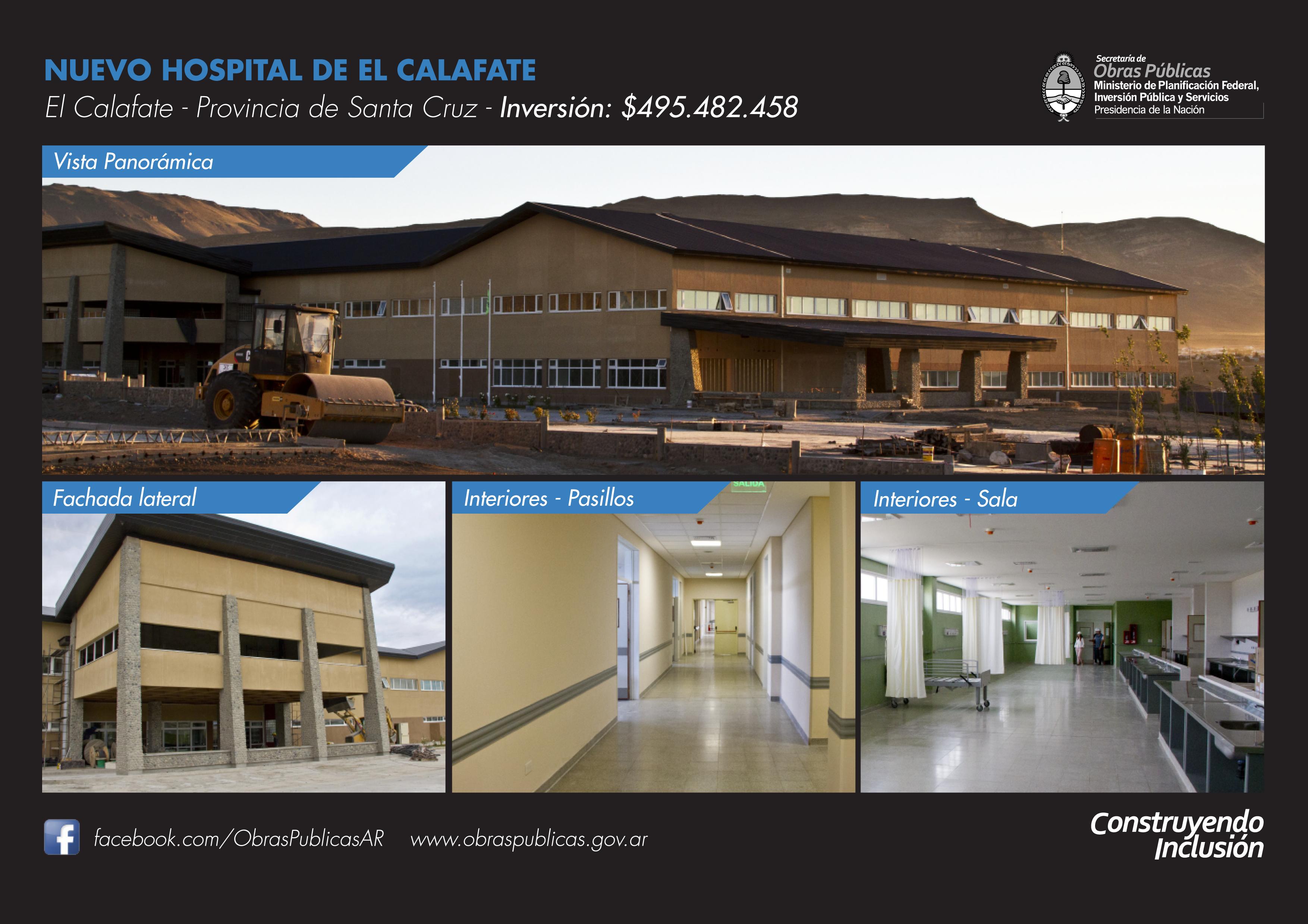 Inauguramos el nuevo hospital de El Calafate.