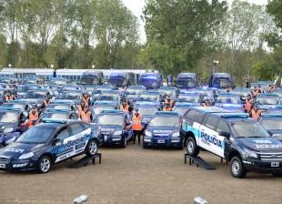 Nuevos patrulleros, motos y camionetas para la Policía Federal