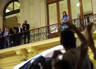 Cristina Kirchner con la Militancia
