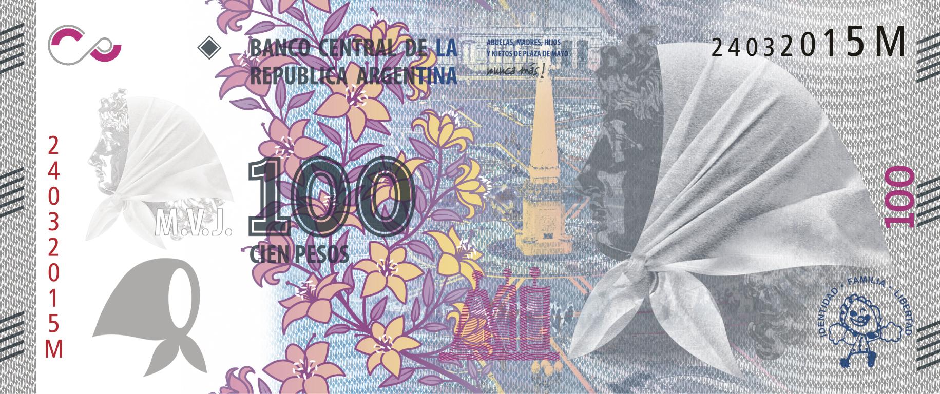 Se emitirá un billete de 100 pesos en homenaje a las Madres y Abuelas de Plaza de Mayo