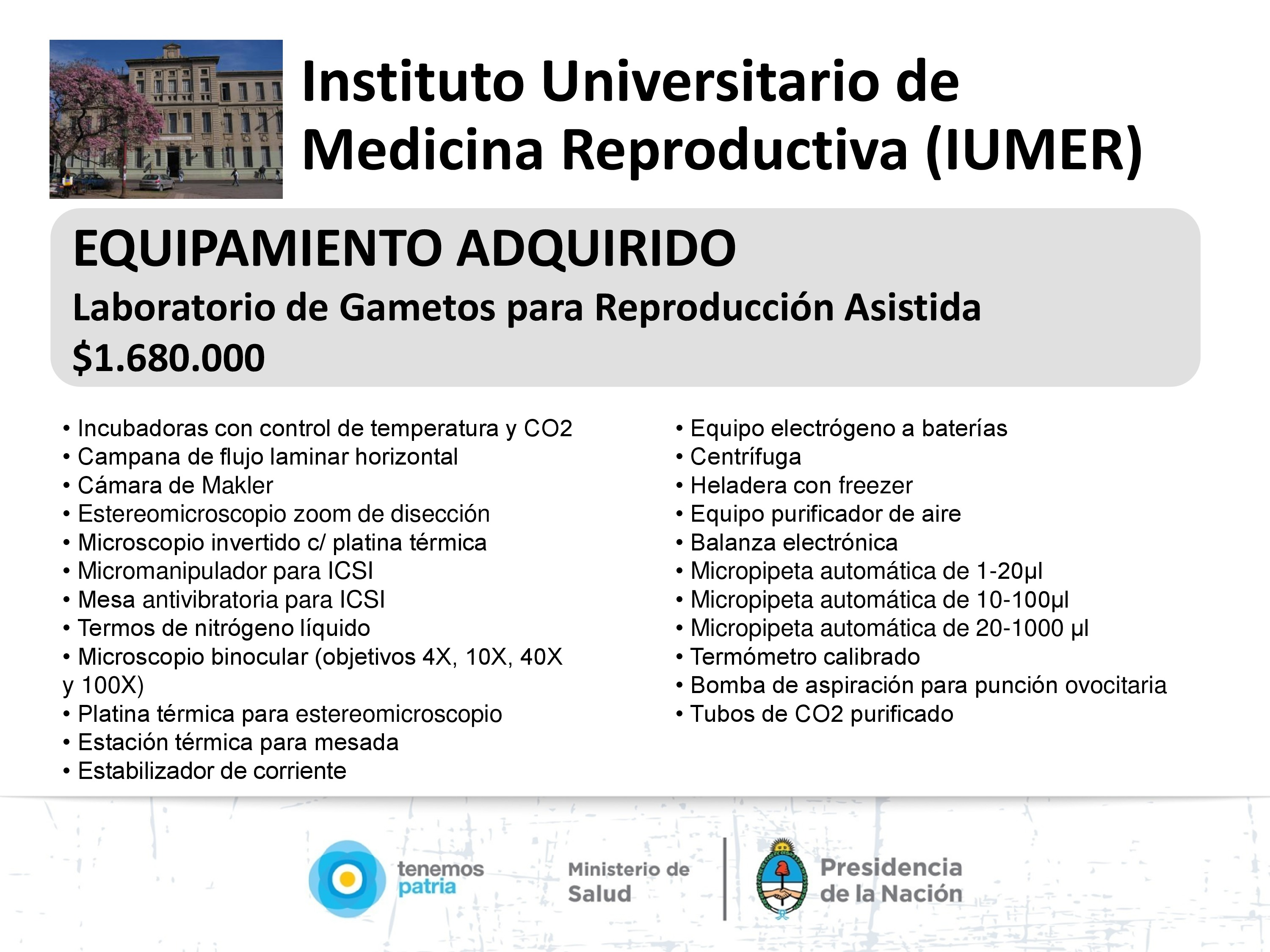 Instituto Universitario de Medicina Reproductiva, Córdoba.