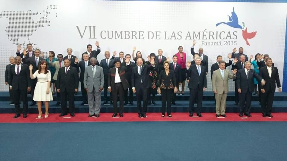 Foto Oficial de Mandatarios y Jefes de Estado, en la VII Cumbre de las Américas Panamá 2015. #CumbrePanama