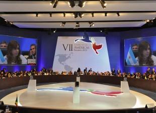 Cristina en la VII Cumbre de las Américas, en Panamá.