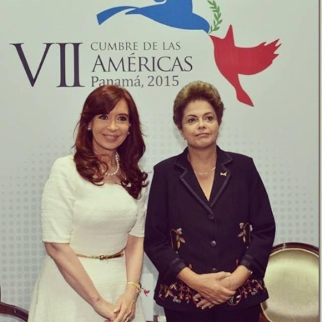 Reunión bilateral con Dilma en la #cumbredelasamericas en #panamá
