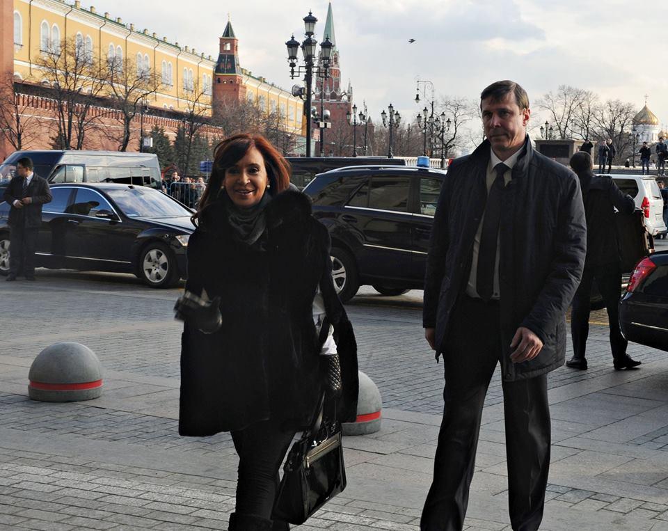 La Presidenta Cristina Kirchner arribó a Rusia en visita oficial.