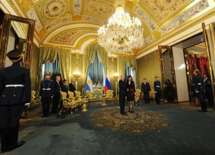 Cristina Kirchner was received by Vladimir Putin