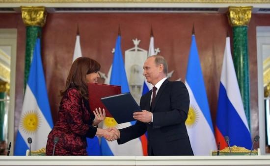 Cristina Kirchner y Vladimir Putin