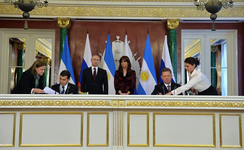 Cristina Kirchner en Rusia.