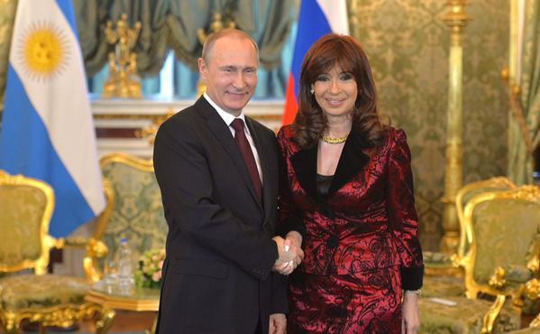 Cristina Kirchner was received by Vladimir Putin