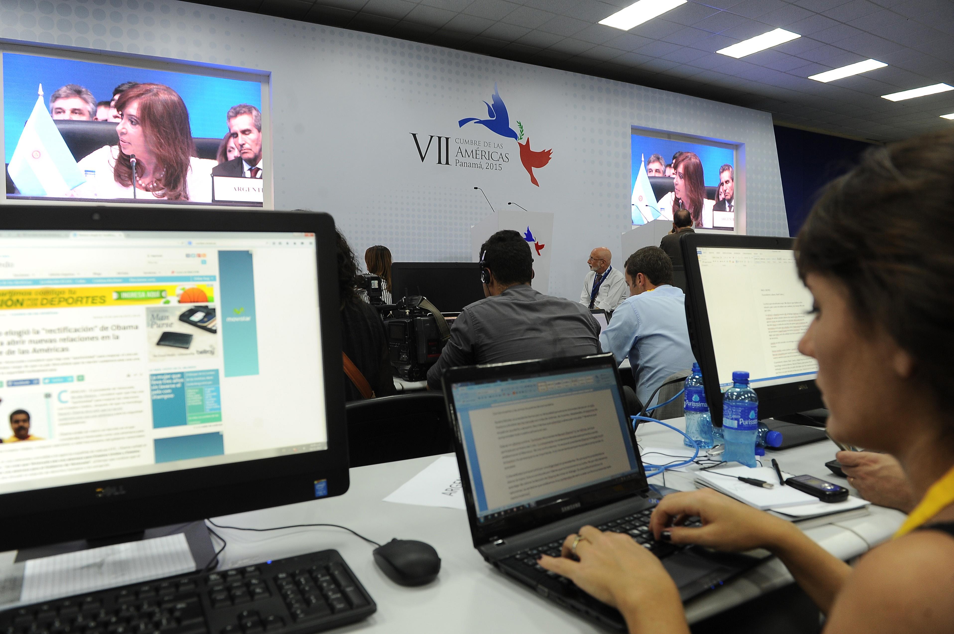 Declaraciones de Cristina al término de la Cumbre de Panamá.