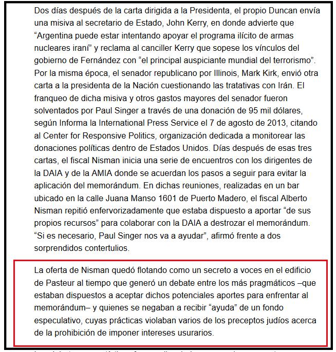 Nisman y los fondos buitres