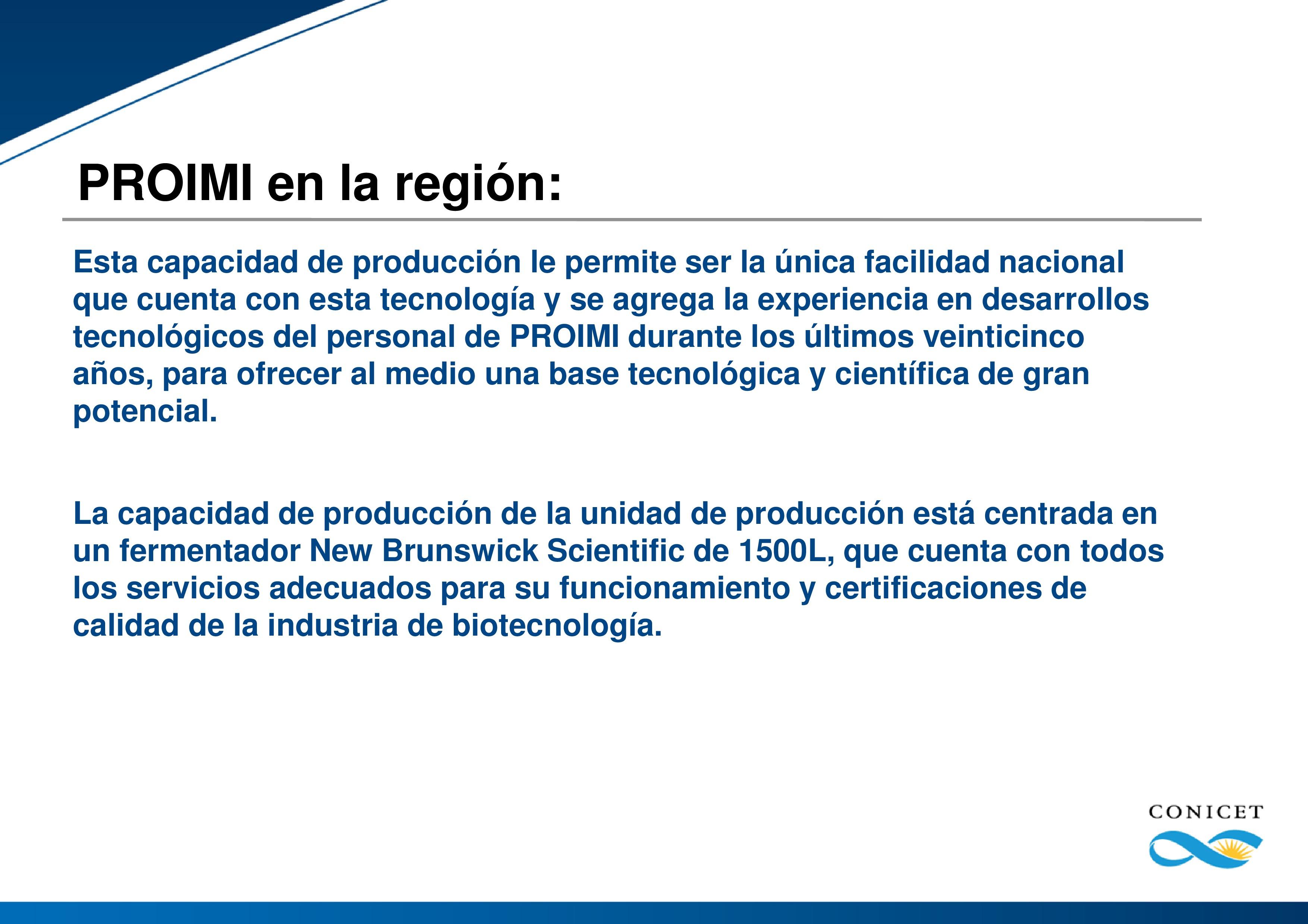 PROIMI (Planta Piloto de Procesos Industriales Microbiológicos)