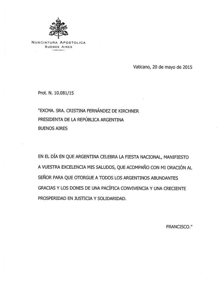 El saludo del Papa Francisco para todos los argentinos con motivo de la Fiesta Patria #semanademayo